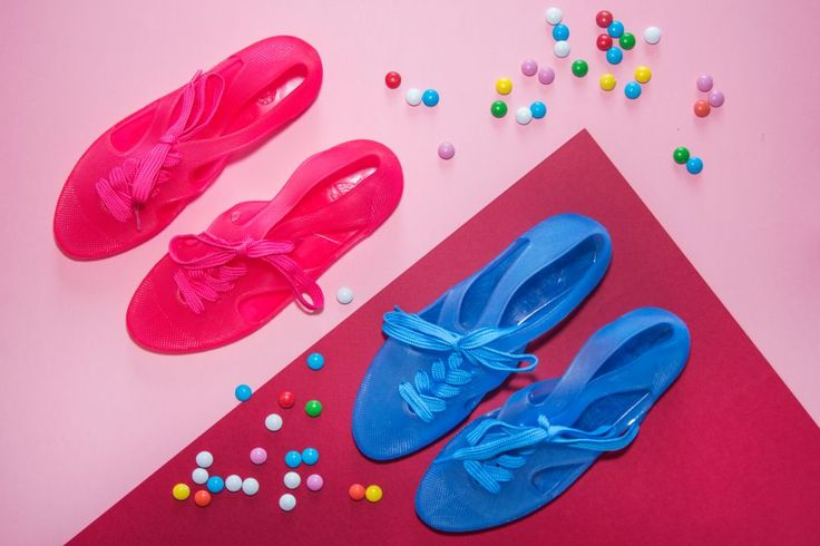 F-troupe Bathing Shoes Jelly Pink Jelly Turquoise  fot. Oliwia Cabaj