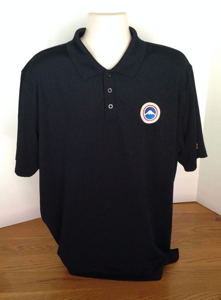 United States Army Japan Black Under Armour Mens Polo Size XL Polyester Military #UnderArmour #ShirtsTops