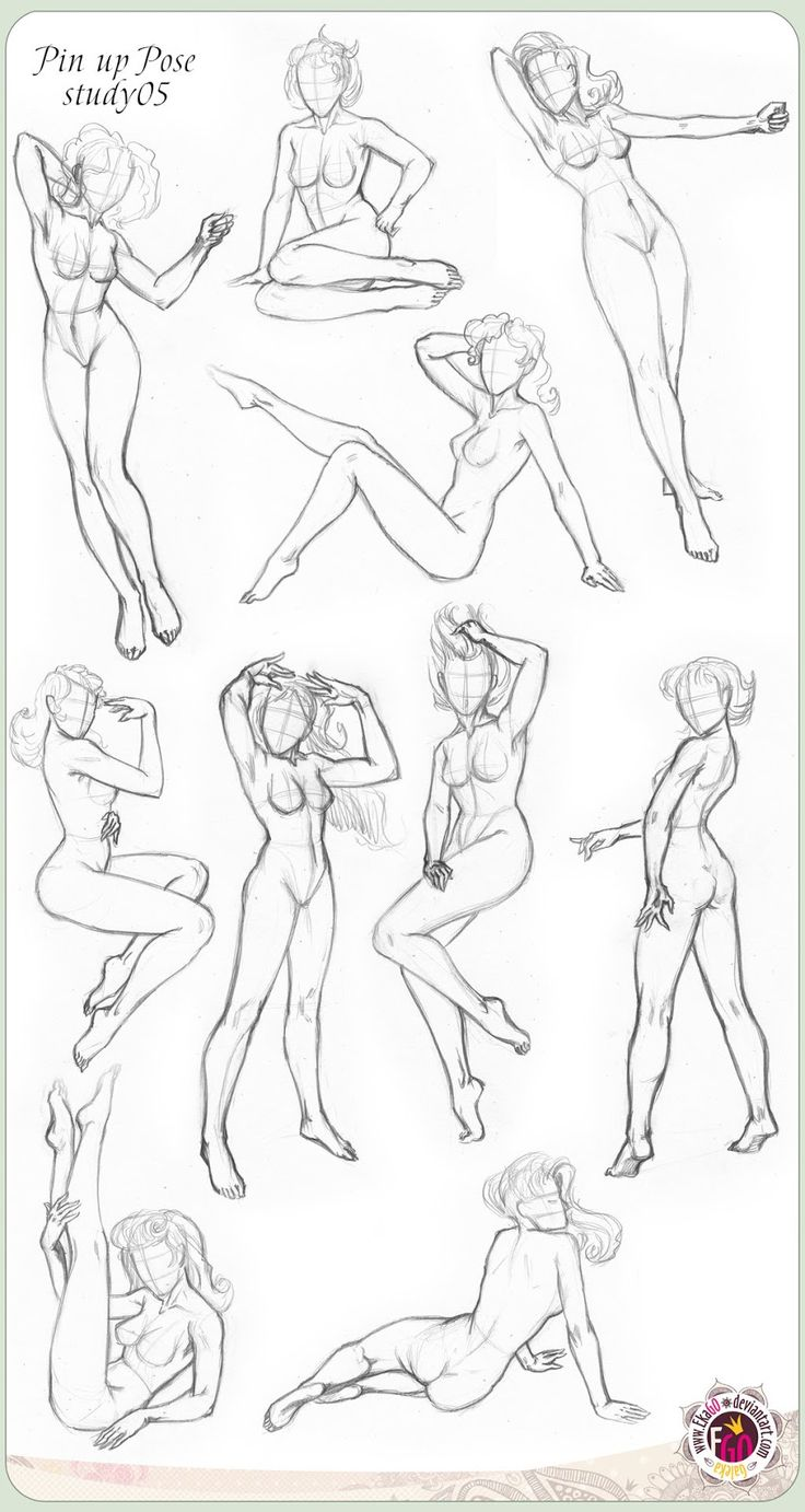 How to draw Pin Up - Poses : Pin Up and Cartoon Girls