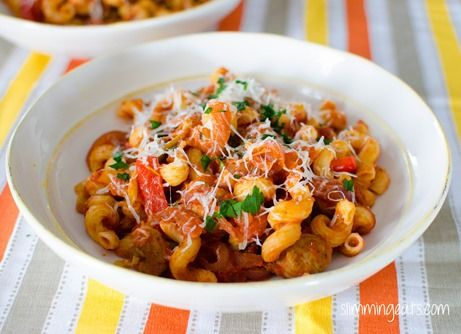 Sausage and Tomato Pasta   Slimming Eats - Slimming World Recipes
