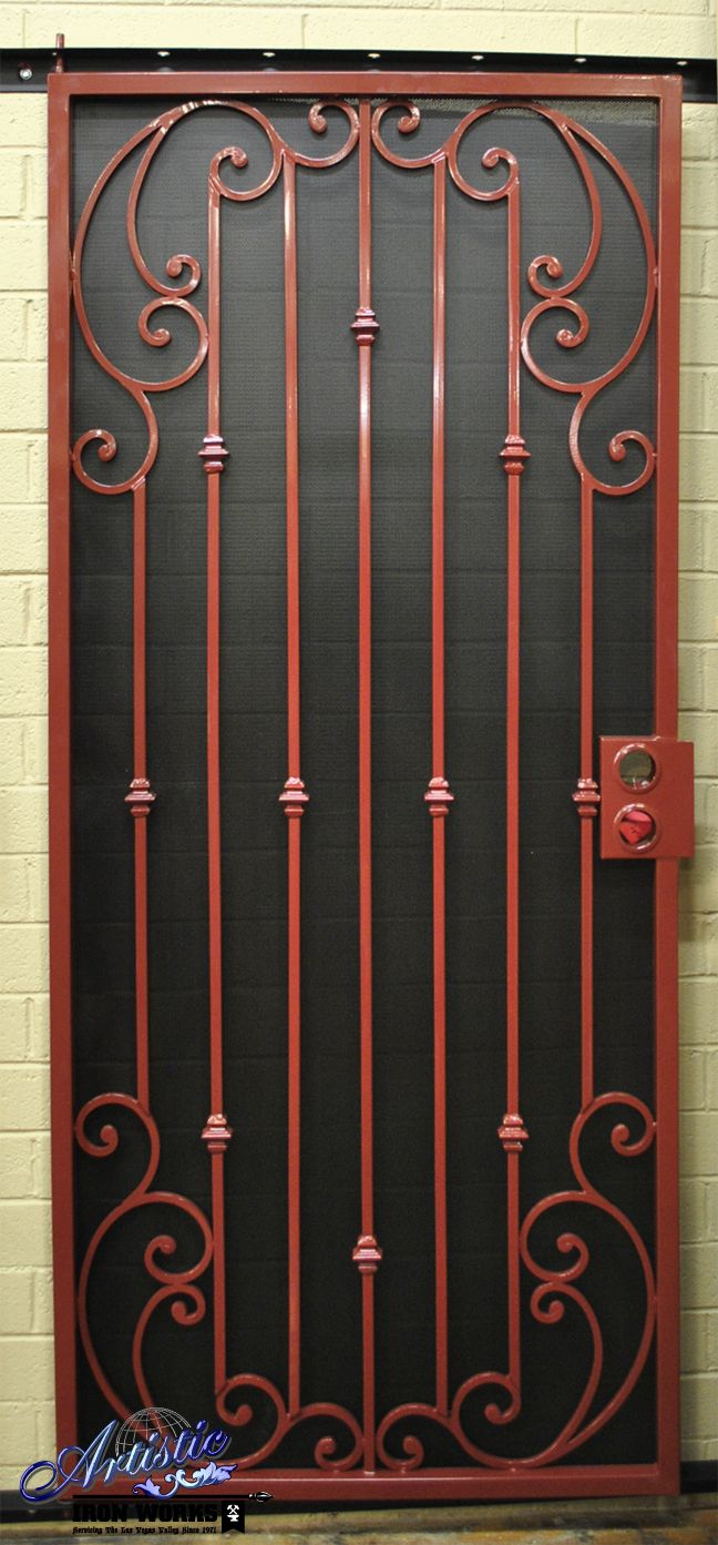 New Design SD0213 - Wrought Iron Security Screen Door I would want this in black