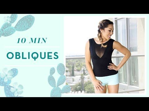 Today we're saying goodbye to that muffin top! Through a series of 5 moves, we're really working on strengthening those obliques and slimming down the waist. Not to fear though! I'll be chatting with