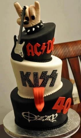 AC/DC - Kizz - Ozzy - 40's cake (someone make this for me please!!!! I don't know about 40 but 30 is coming up really soon)