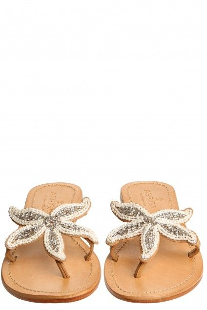 Starfish Beaded Sandal   | Calypso St. Barth got these 20 years ago in Pink still  have , good thing