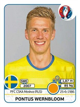 564 Pontus Wernbloom - Suecia - EURO 2016 - PANINI