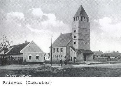 Evanjelický kostol v Prievoze, 1929, architekt Siegfried Theiss