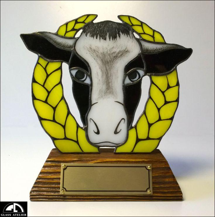 nagroda dla... #polandhandmade , #glassatelier , #stainedglass , #witraże , #tiffany , #krowa , #glass , #szkło , #art , #handmade ,