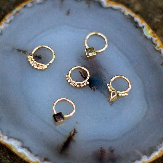 Unique Nose Ring Gold Septum Gold Citrine Septum Ring by votivanyc