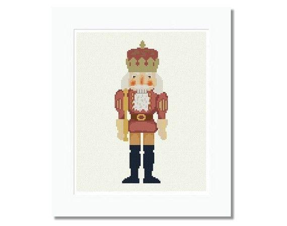 Christmas King Nutcracker; cross stitch pattern $4.00