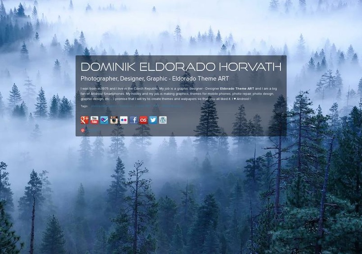 Dominik Eldorado Horvath's page on about.me – http://about.me/eldoradothemeart