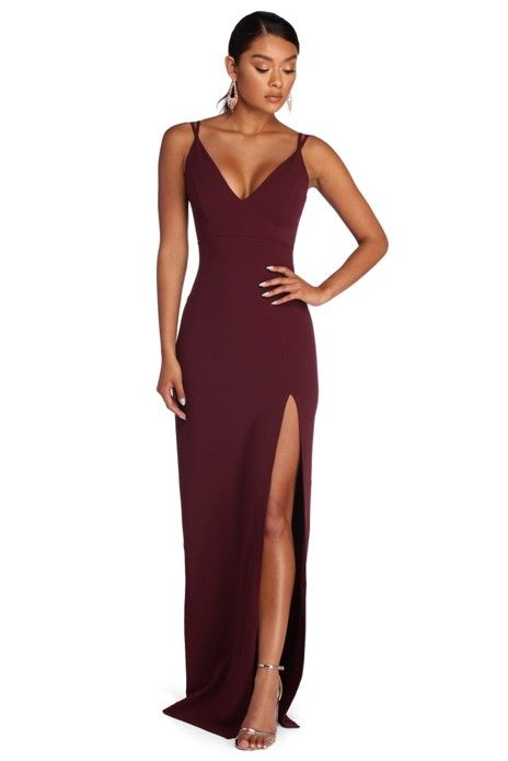 08a862be073d Bailey Strappy Formal Crepe Dress in 2019 | Products | Dresses ...