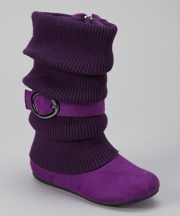 Take a look at this Ositos Shoes Purple Daysi Fold-Over Boot on zulily today!