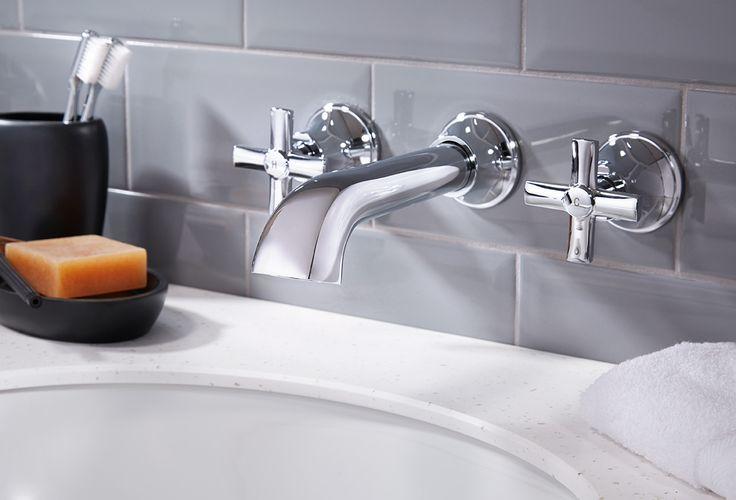 Savio three hole wall-mounted basin mixer bathroom taps #bathroomfurniture