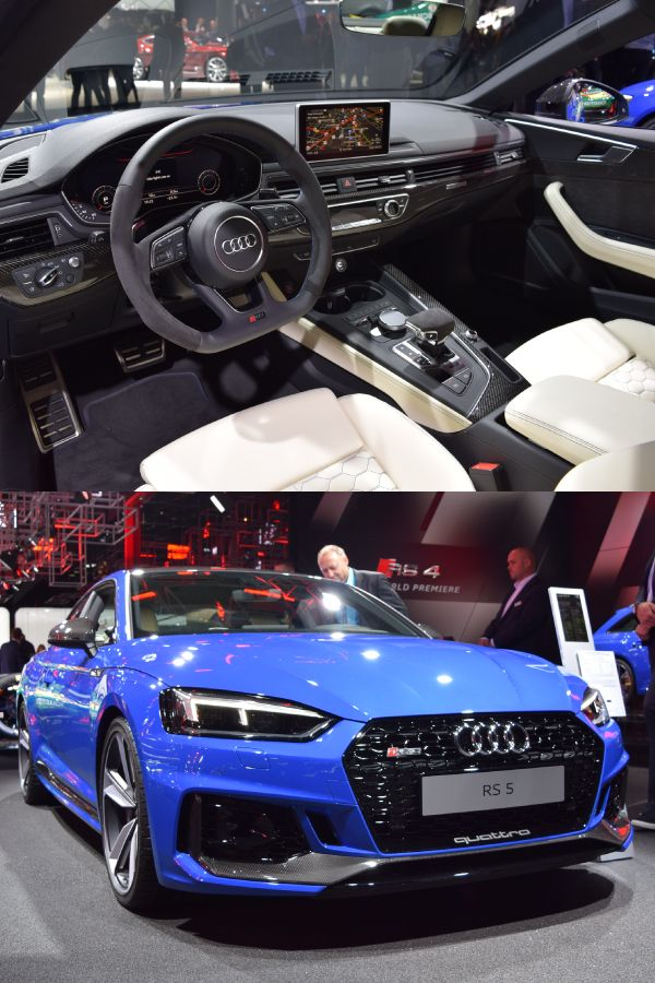 The Audi Rs5 In Blue The White Leather Goes Well Audi Rs5