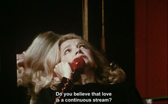 """Cassavetes """"Do you believe that love is a continuous stream?"""" ...."""