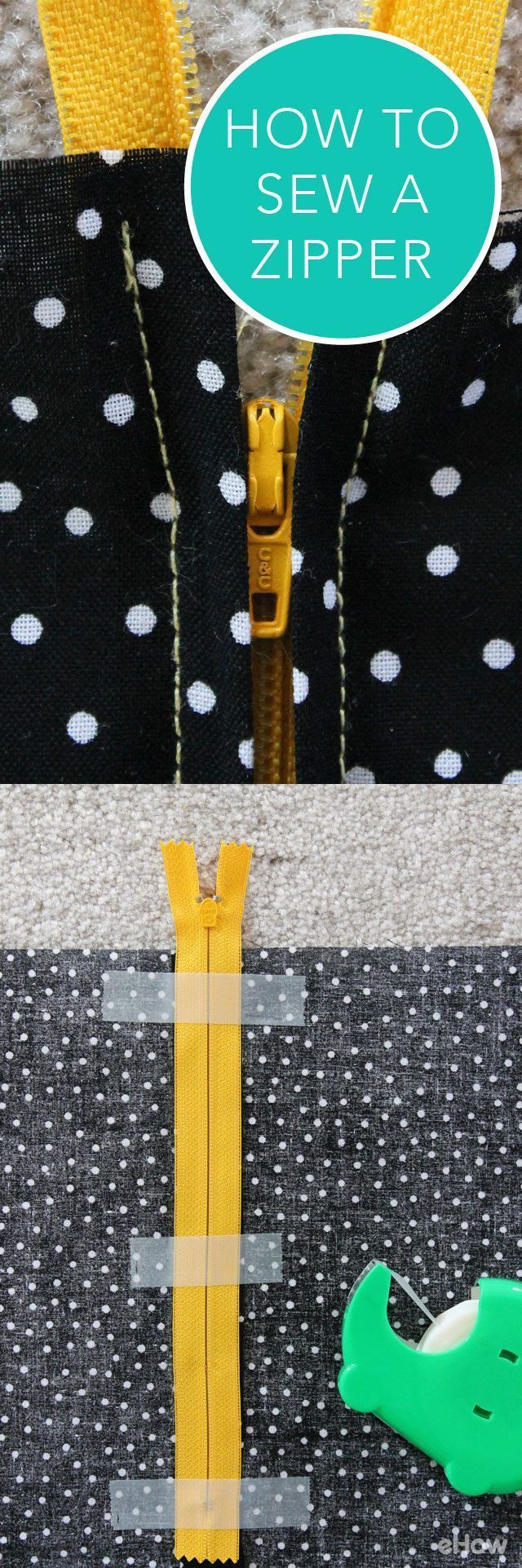 Learning how to sew on a zipper may sound difficult, but with this step-by-step tutorial, you'll learn to easily apply zippers to any garment piece! www.ehow.com/...