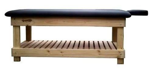 camilla de madera para masajes, spa