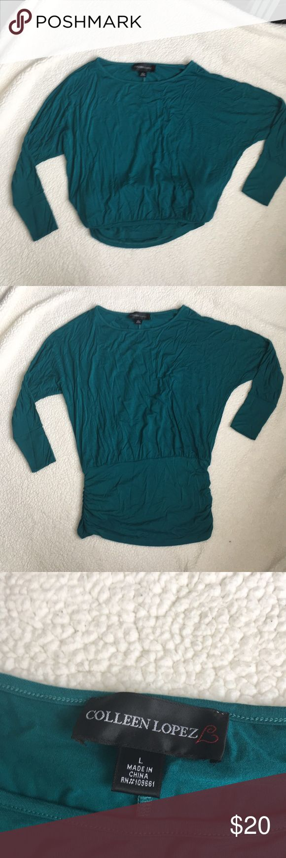 Teal Slouchy Top Super cute, no wear, only worn a couple of times. Can be dressed up or down.   No trades, please comment with questions. Offers considered through offer button only. colleen lopez Tops Blouses