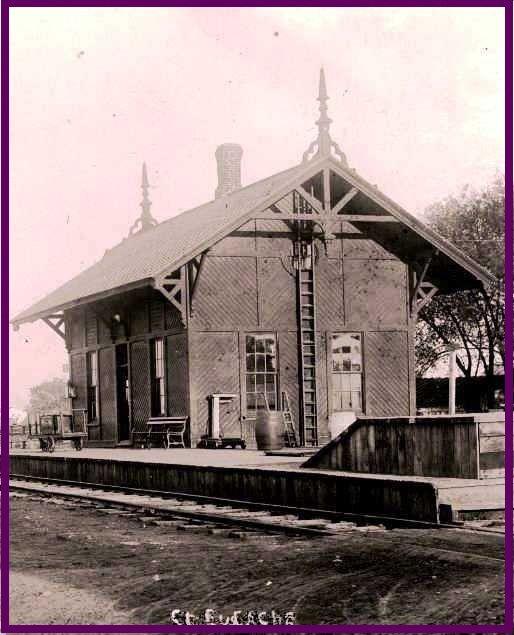ST-EUSTACHE, Que. - La gare Canadiennr Pacifique p 1912