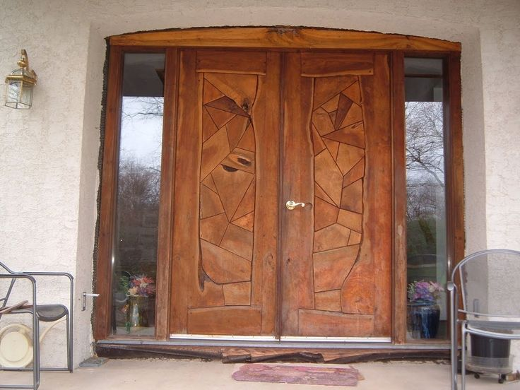 Security Wood Entry Doors