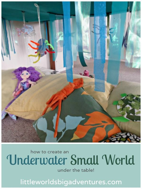 How to Create an Underwater Small World under the Table | Little Worlds