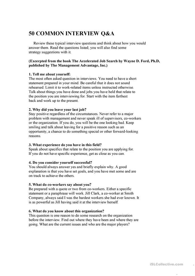 Job Interview Questions Job Interview Questions This Or That