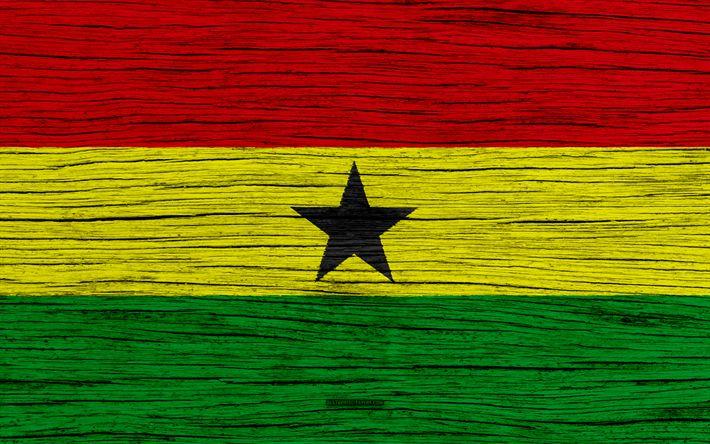 Download wallpapers Flag of Ghana, 4k, Africa, wooden texture, Ghanaian flag, national symbols, Ghana flag, art, Ghana