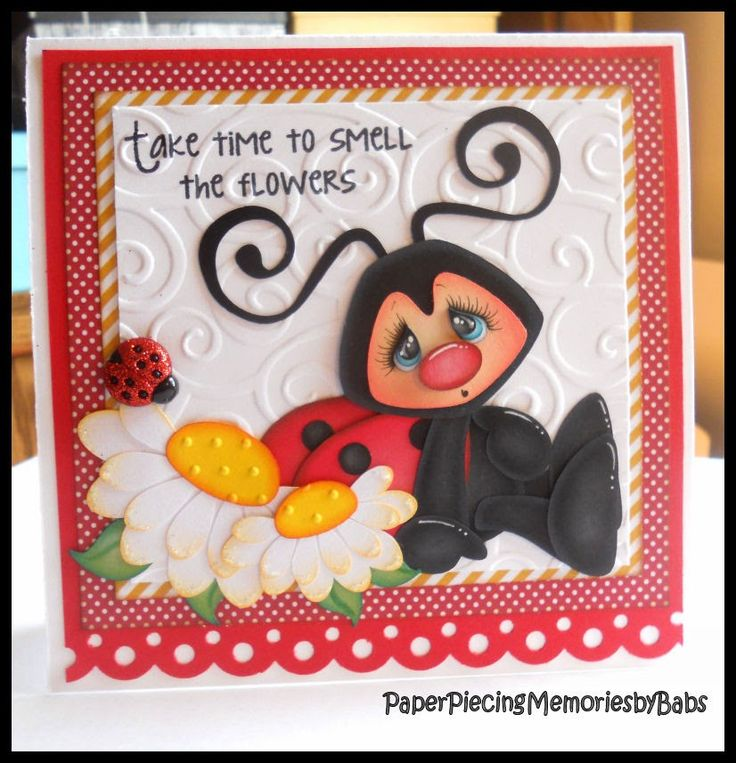 """""""Take time to smell the flowers"""" card created by PAPER PIECING MEMORIES BY BABS…"""