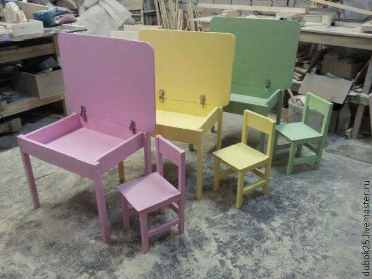 Купить детский стол с ящиком, стул - комбинированный, детская мебель, мебель из дерева, мебель на заказ
