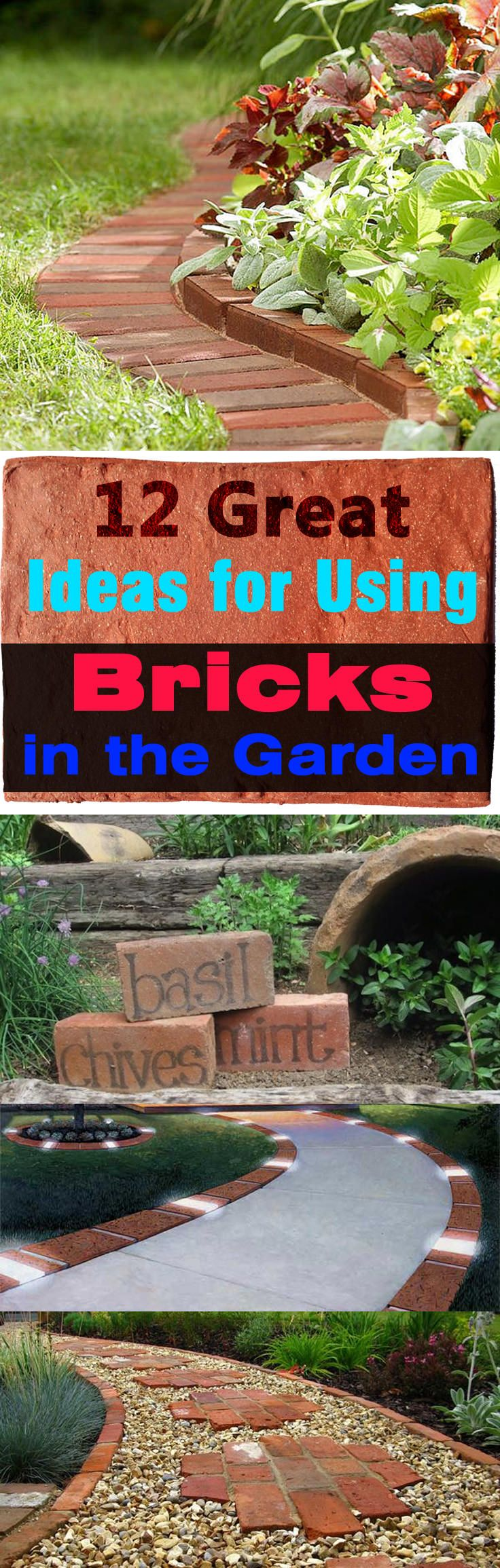 12 smart ideas to use bricks in garden design - Brick Garden 2015
