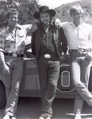 Tom Wopat, Waylon Jennings, John Schneider - Dukes of Hazzard. He wrote the song for the opening of their show: Good Ol' Boys