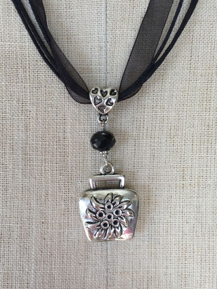 Alpine Cowbell Charm Necklace