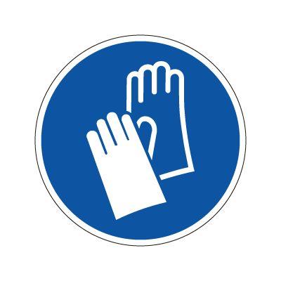 Håndvern påbudt - Påbudsskilt