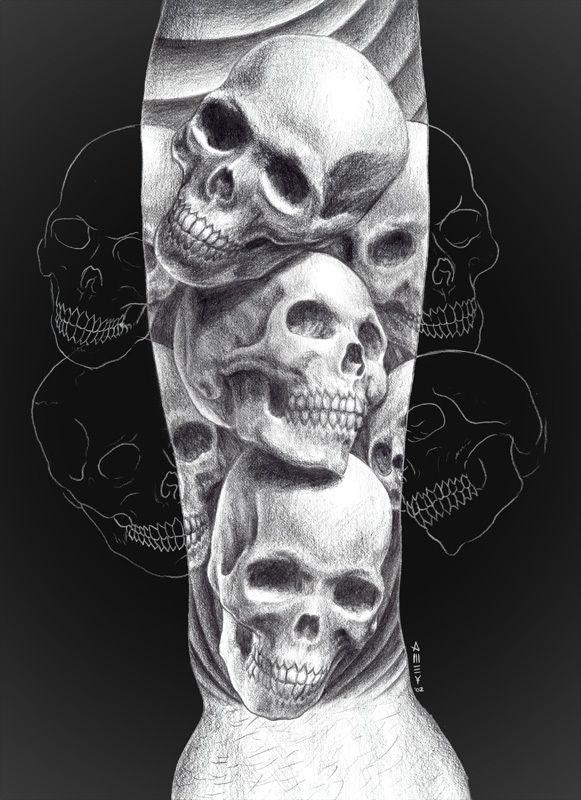 http://tattoomagz.com/skull-butterfly-tattoo-meaning/skull-tattoo-meaning-and-designs-black-and-white/