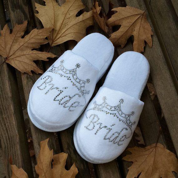 Brides Wedding Slippers Honeymoon slippers  Velour by LAMEDORE