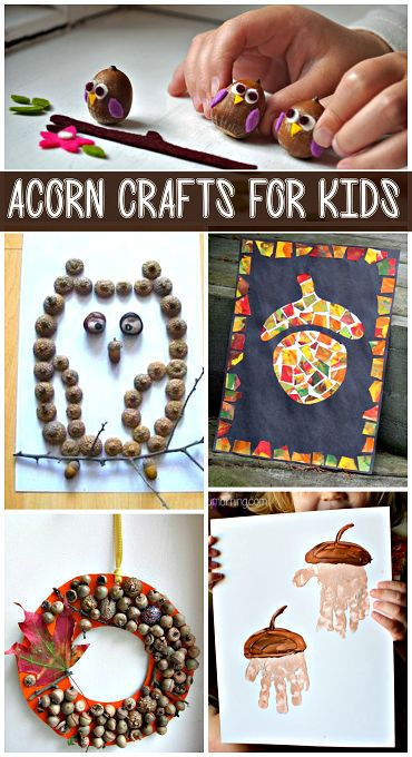 My Favorite DIY Acorn Crafts #Fall art projects for kids to make! | CraftyMorning.com
