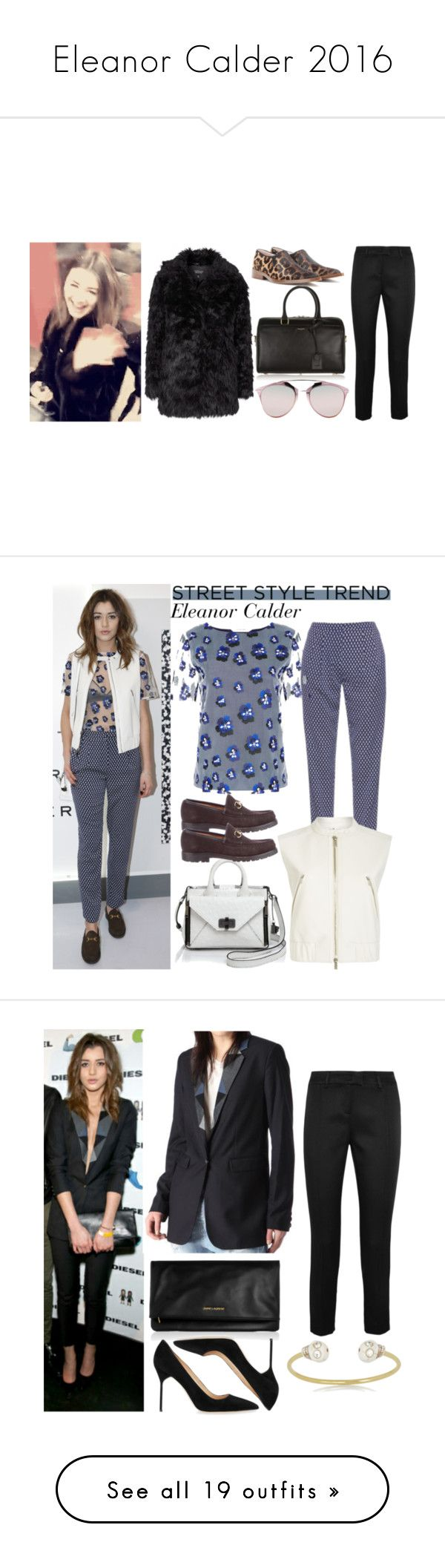 """""""Eleanor Calder 2016"""" by elenaday ❤ liked on Polyvore featuring Topshop, Yves Saint Laurent, Victoria Beckham, Christian Dior, Christopher Kane, women's clothing, women, female, woman and misses"""