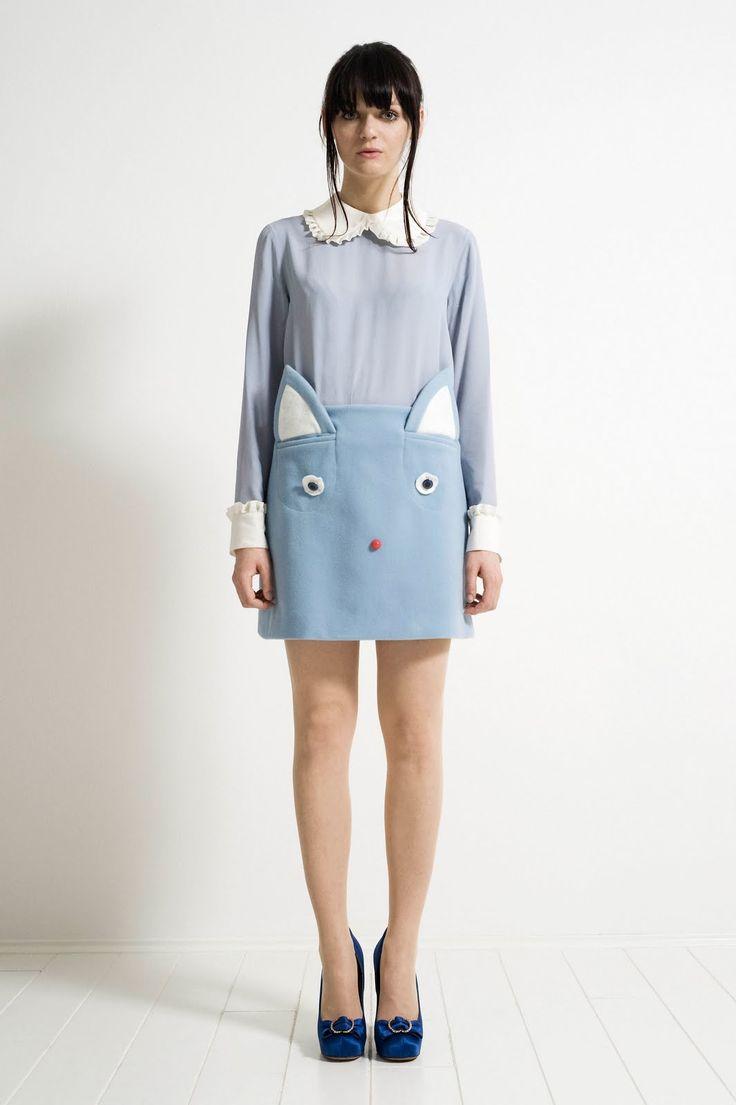 peter pan collar kitty skirt, so cute!