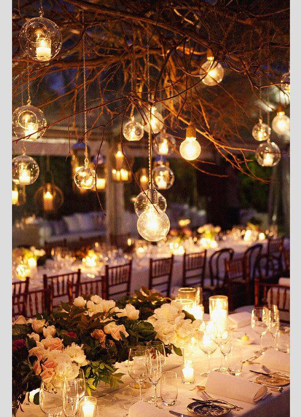 Iluminacion de boda, bombillas filamento de carbon