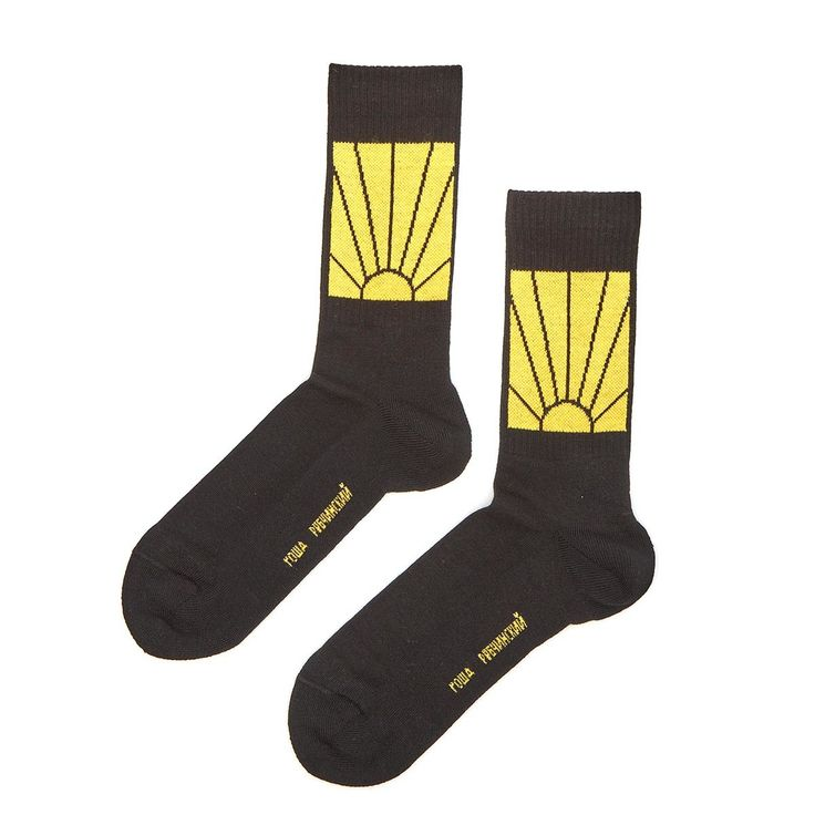 Knit socks from the F/W2016-17 Gosha Rubchinskiy collection in black