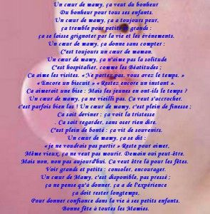 Beaux Poème avec Carte et Texte pour Grand-Mère