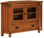 Rio Mission Small Corner TV Stand|Amish Rio Mission Small Corner TV Stand