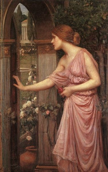 John William Waterhouse - Psyche Entering Cupid's Garden