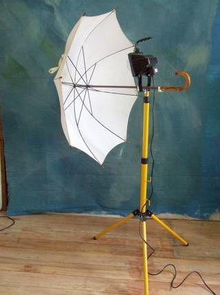 Baustrahler mit Schirm