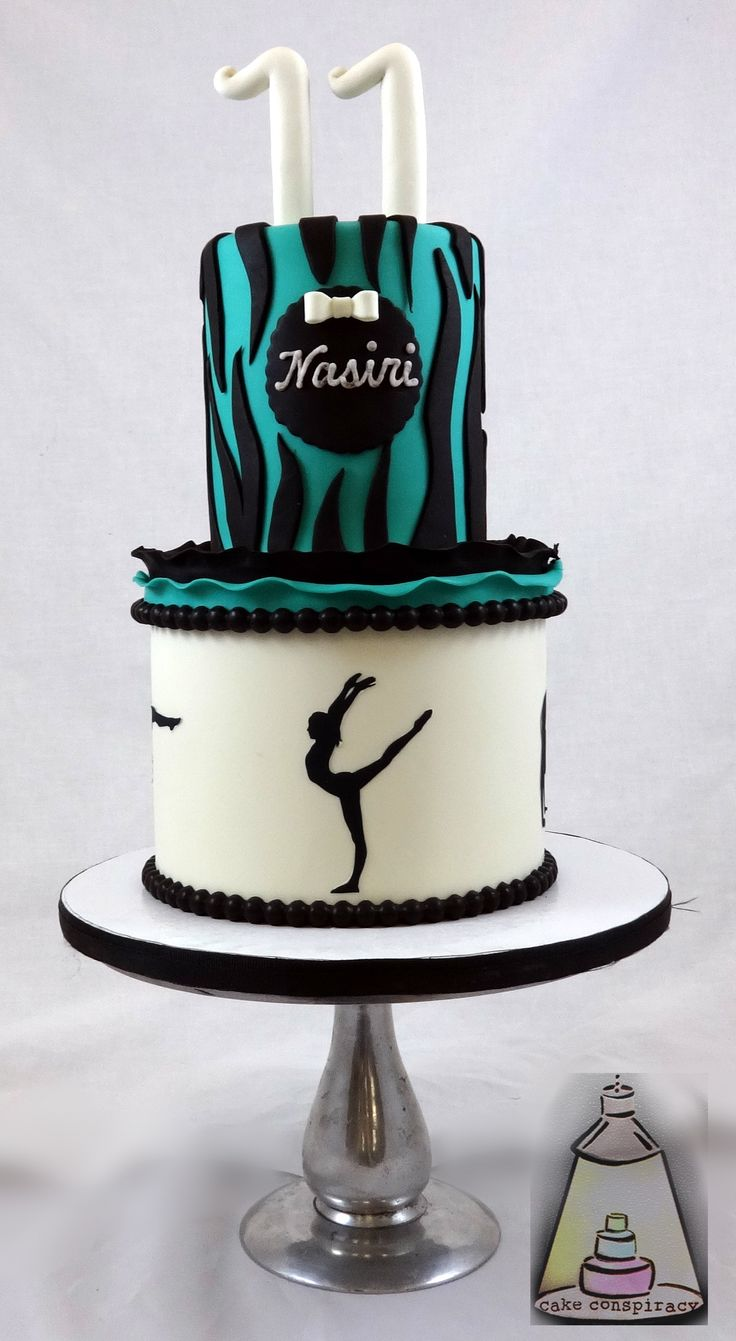 Gymnastics Birthday Cake Girl Birthday Cakes Pinterest