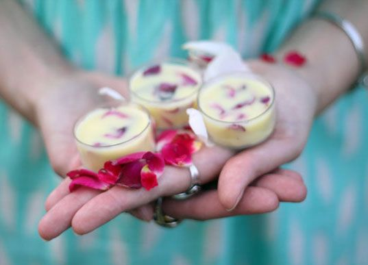 An easy DIY for all natural Floral Coconut Rose Lip Balm and Lavender Rosemary Sugar Scrub.