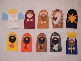 Pink Stripey Socks: DIY Felt Nativity Finger Puppets with Pattern