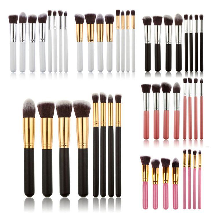 8PCS Brushes Make Up Beauty Cosmetics Foundation Blending Makeup Brush Kit Set Wooden Makeup Tool