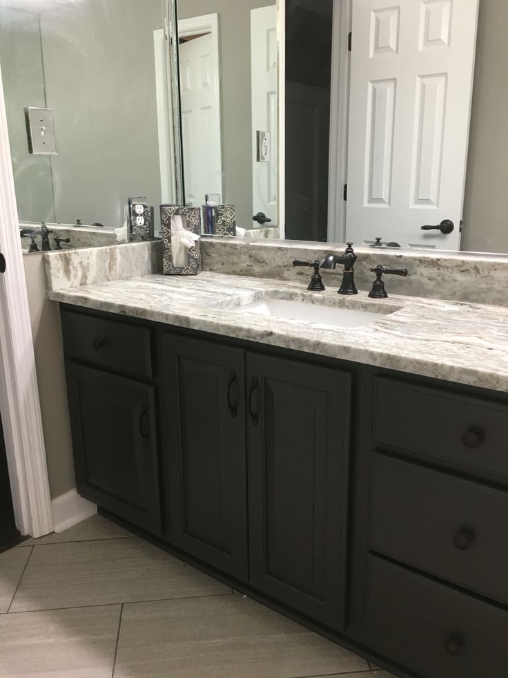 I Painted By 119 Quot Vanity With Sherwin Williams Sealskin
