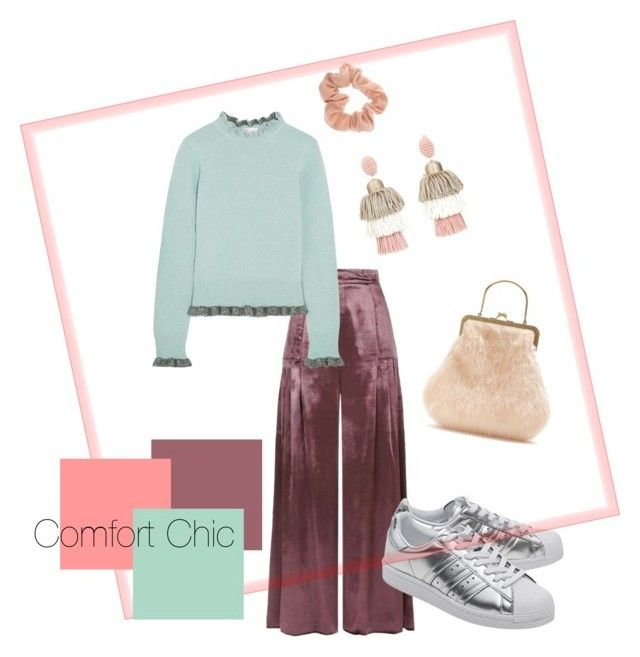 Comfort Chic by karen-poonoosamy on Polyvore featuring polyvore, fashion, style, RED Valentino, Temperley London, adidas Originals, Shrimps, Oscar de la Renta and clothing